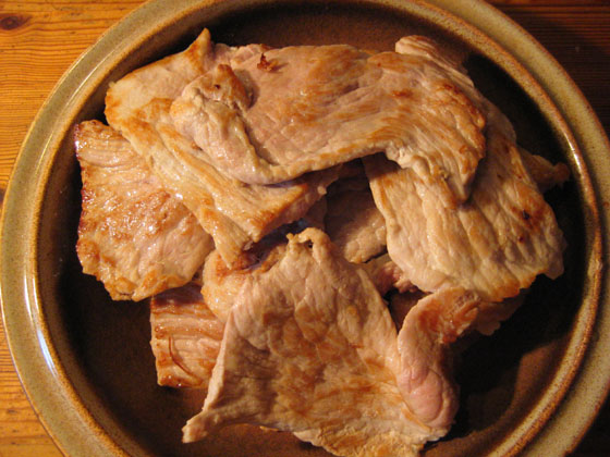 Angebratene schnitzel