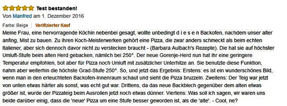 Rezension Gorenje Backofen-560